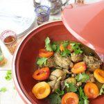 Tajine di pollo con albicocche