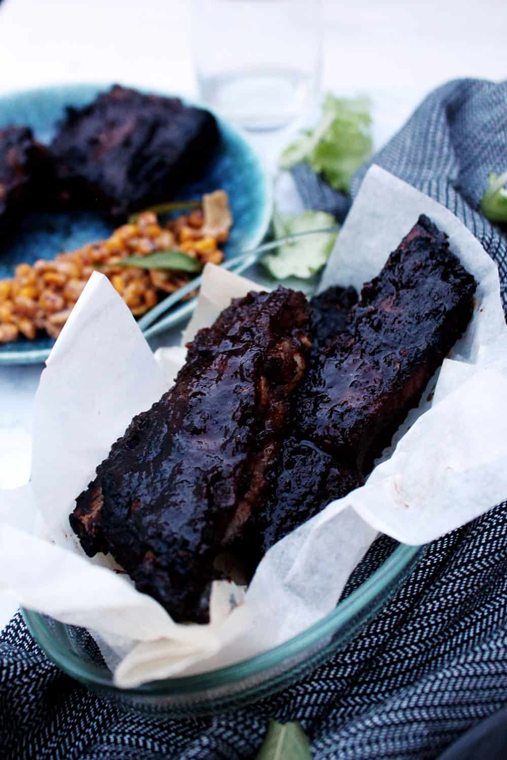 barbecue ribs americane