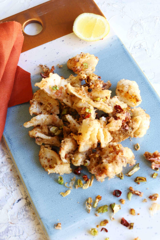 calamari al sale e pepe cinesi
